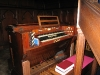 Organ keys, pedal board and stops